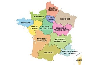 The New 13 Regions of France