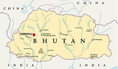 Which Countries Border Bhutan?