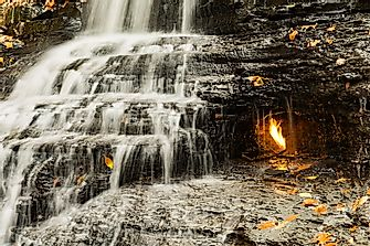 Eternal Flame Falls - Unique Places around the World