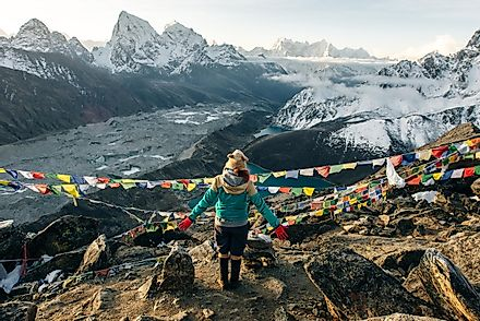 The view from Mount Everest Base Camp. Image credit: Brester Irina/Shutterstock