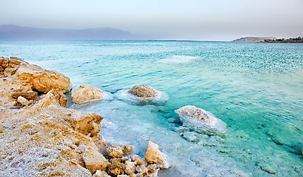The Dead Sea is known for its high salt content.