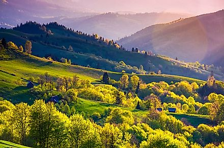 The Carpathians in Ukraine.