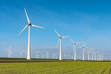 Wind energy is generated by wind power plants that make use of huge turbines that convert this energy into electricity.