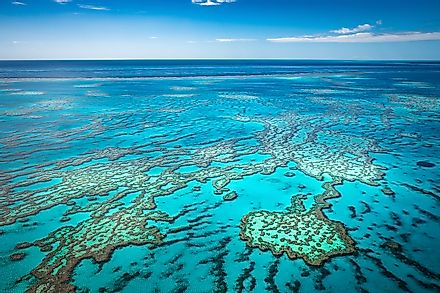 The Great Barrier Reef of Australia is the world's largest barrier reef system.