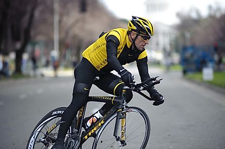 Lance Armstrong made history by winning seven consecutive titles before they were withdrawn due to doping allegations. Editorial credit: Randy Miramontez / Shutterstock.com
