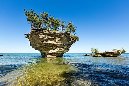 Lake Huron, one of the five great lakes.