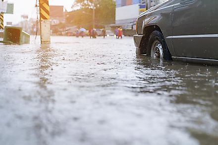 With climate change, sea levels are rising and flooding is affecting more of the world's population. Image credit: thanatphoto/Shutterstock
