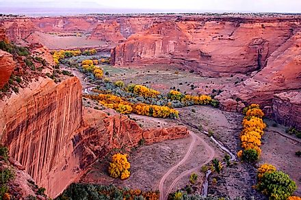 Canyon de Chelly translates to Canyon of Canyon.