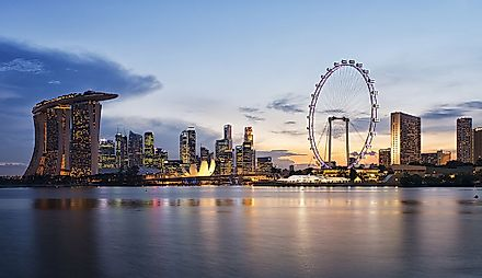 Singapore has a thriving economy, the best among the Southeast Asian nations.