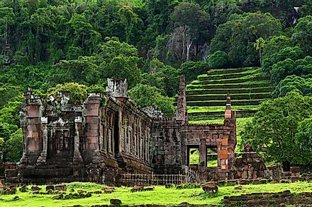 Ruins of the Vat Phou Temple.