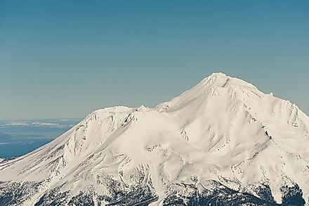 The volcanic Mount Shasta in the U.S. state of California is home to several growing glaciers, despite rising temperatures in the region.