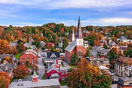 Montpelier, Vermont, the smallest state capital by population.
