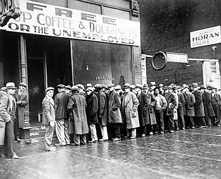 Unemployment rates skyrocketed during the Great Depression.