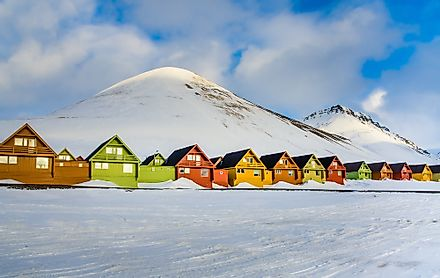 The town centre of Longyearbyen, Svalbard, Norway