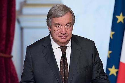Antonio Guterres, the current Secretary-General of the United Nations.  Editorial credit: Frederic Legrand - COMEO / Shutterstock.com