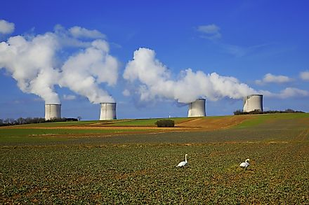 The Cattenom Nuclear Power Plant in France, the leading producer of electricity from nuclear power.