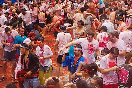 La Tomatina is often billed as the world's biggest food fight.