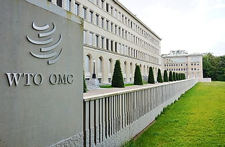 World Trade Organization (WTO) headquarters at the Centre William Rappard in Geneva, Switzerland. Editorial credit: EQRoy / Shutterstock.com