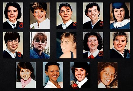 The 14 victims of the ecoly polytechnique massacre.