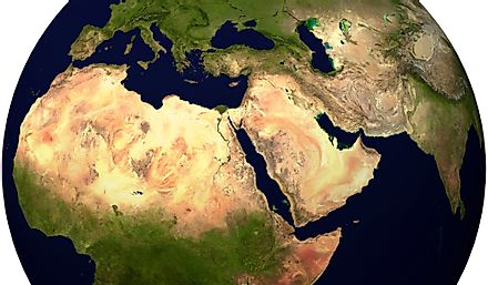 Parts of Southwest Asia, Southeastern Europe, and North Africa are known as the Near East and Middle East.