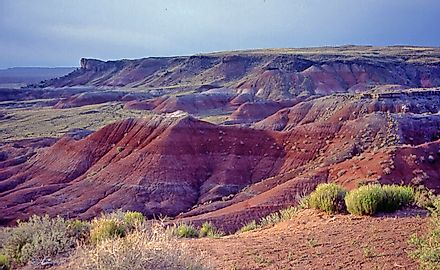 The Painted Desert is know for its beautiful color patterns. Image credit: wikimedia.org