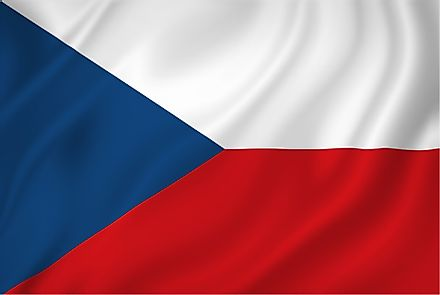 The flag of the Czech Republic.