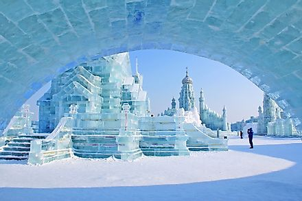 A view of Ice and Snow World in Harbin.