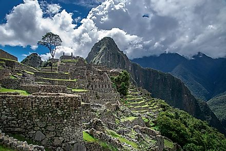 Machu Picchu. View of the ancient Inca city from the lower terraces.