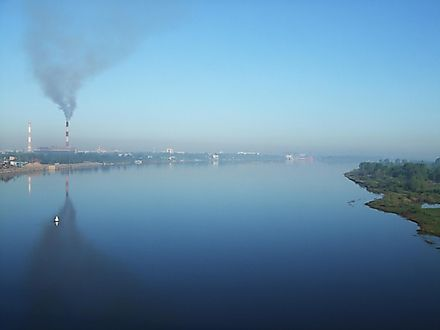 The Volga  River Near Nizhny Novgorod, Russia