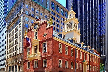 The Old State house building in Boston, one of the oldest continuously serving capital city in the United States.