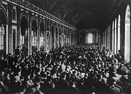 Signing of the Treaty of Versailles on June 28, 1919.