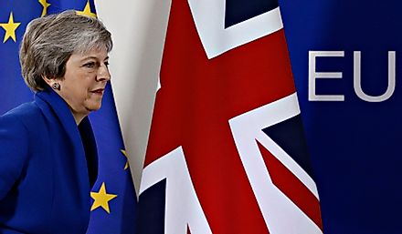 British Prime Minister Theresa May is negotiating Brexit. Editorial credit: Alexandros Michailidis / Shutterstock.com