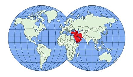 West Asia is located north of Africa and south of Eastern Europe.