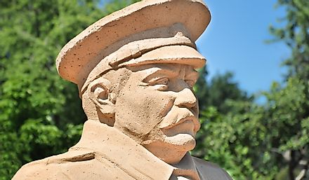 Statue of Joseph Stalin, leader of the Soviet Union from 1924 to 1953. Editorial credit: Ligados / Shutterstock.com