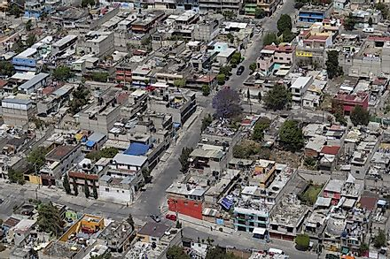 An aerial view of urban living area for lower to middle class in Mexico City, the capital of Mexico. Image credit: Ulrike Stein/Shutterstock.com