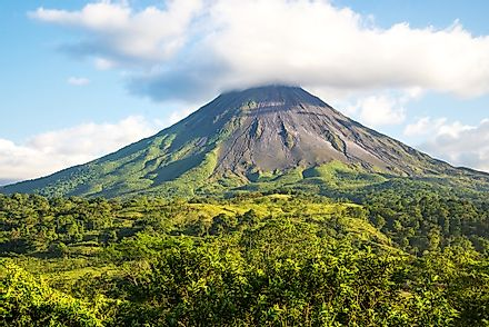Costa Rica's Arenal volcano.