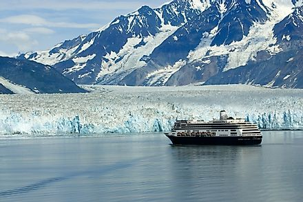 Alaskan cruises offer tourists the opportunity to see beautiful ice formations such as glaciers.