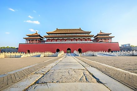 The Forbidden City in Beijing, China, is the world's most visited World Heritage Site.