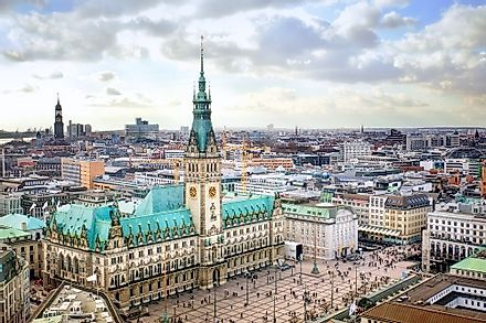 Hamburg is one of the richest German states by GDP.