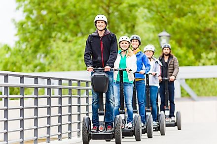 Although sometimes used in novelty tours, the Segway is widely considered to be a failed invention.