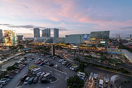 The SM City North EDSA, in Quezon City, Philippines, is one of the largest malls in the world. Editorial credit: r.nagy / Shutterstock.com.