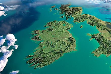 The island of Ireland is shared by Northern Ireland (UK) and the Republic of Ireland.