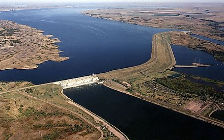 Big Bend Dam on the Missouri River, South Dakota.