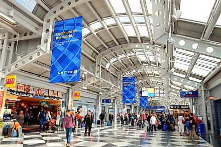 Interiors of the Chicago IL - O'Hare International Airport. Image credit: Songquan Deng/Shutterstock.com