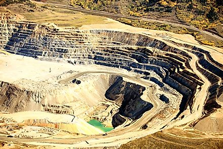An open-pit copper mine.