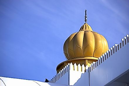 The dome of a Sikh temple.