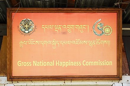 The Gross National Happiness Commission in Thimphu, Bhutan. Editorial credit: Vladimir Melnik / Shutterstock.com