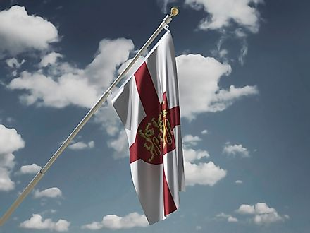 A flag waving the shield of England.