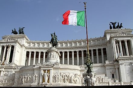 The Italian Parliament Building in Rome.