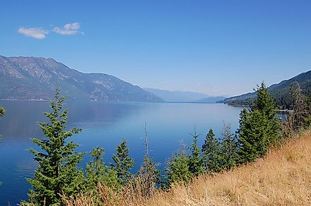 The Kootenay Lake in British Columbia.